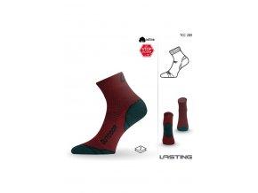 Lasting TCC 289 červená funkční ponožky  ponožky
