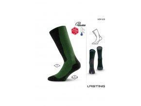 Lasting WSM 620 zelené vlněné ponožky