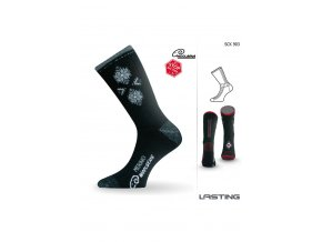 Lasting SCK 908 černá Lyžařské ponožky