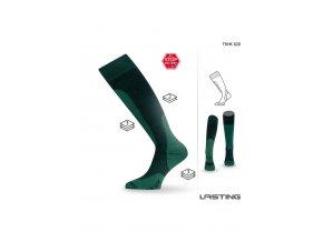 Lasting TKHK 620 zelená zimní podkolenka  ponožky