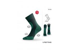 Lasting TKH 620 zelené zimní ponožky z ionty stříbra