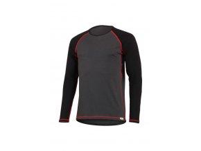 Lasting MARIO 8936 šedé pánské vlněné merino triko