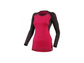 Lasting DITA 4788 růžové vlněné merino triko