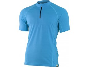 Lasting CHRIS 5151 modré pánské vlněné merino triko