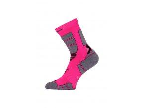 Lasting ILR 408 růžová Středně dlouhá inlinová ponožka  ponožky