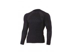 Lasting WAPOL 9090 černé vlněné bezešvé triko