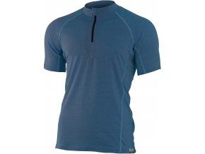 Lasting CHRIS 5656 modré pánské vlněné merino triko