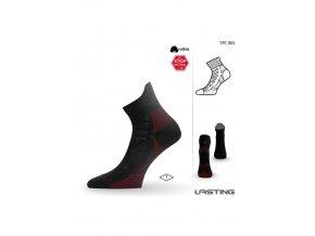 Lasting TPC 903 černá trekingová ponožka  ponožky