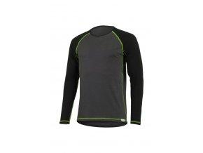 Lasting MARIO 8961 šedé pánské vlněné merino triko