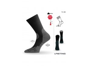 Lasting TCL 908 černá trekingová ponožka  ponožky