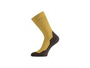 Lasting WHI 640 hořčicová vlněné ponožky  ponožky