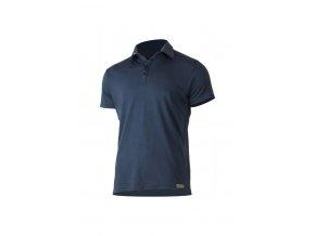 Lasting ELIOT 5656 modrá vlněná merino polo košile