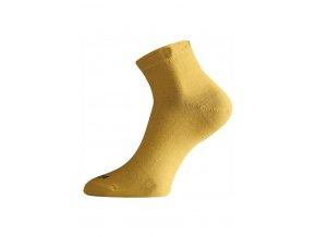 Lasting WAS 640 hořčicové ponožky z merino vlny  ponožky