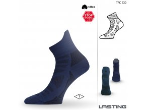 Lasting TPC 530 modrá trekingová ponožka