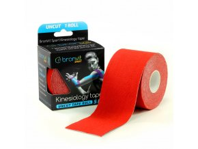 BronVit kinesiology tape Uncut 5cm x 5m červená