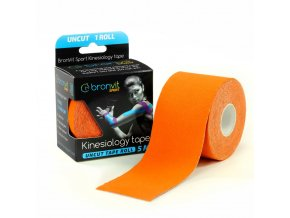 BronVit kinesiology tape Uncut 5cm x 5m oranžová