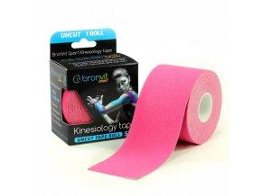 BronVit kinesiology tape Uncut 5cm x 5m růžová