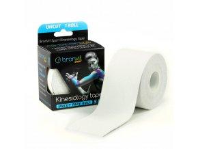 BronVit kinesiology tape Uncut 5cm x 5m bílá