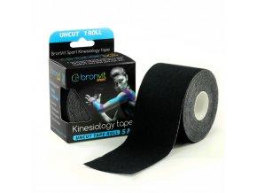 BronVit kinesiology tape Uncut 5cm x 5m černá