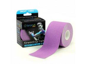 BronVit kinesiology tape Uncut 5cm x 5m fialová