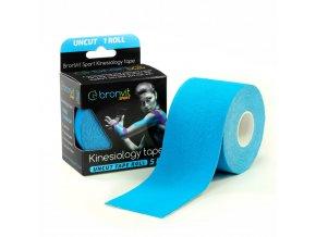 BronVit kinesiology tape Uncut 5cm x 5m modrá