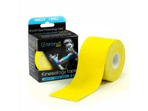 BronVit kinesiology tape Uncut 5cm x 5m žlutá