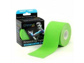 BronVit kinesiology tape Uncut 5cm x 5m zelená