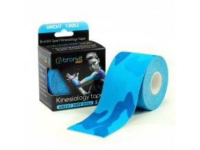 BronVit kinesiology tape Uncut 5cm x 5m maskovaná modrá