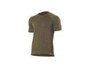 Lasting QUIDO 6363 zelené pánské vlněné merino triko