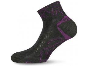 Lasting WDL 904 černé  ponožky z merino vlny