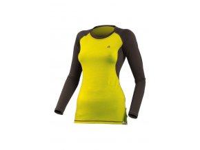 Lasting DITA 6980 žluté vlněné merino triko