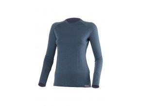 ATILA 5656 modré vlněné merino triko