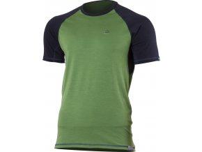 OTO 6080 zelené pánské vlněné merino triko