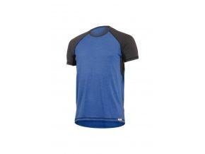 OTO 5180 modré pánské vlněné merino triko