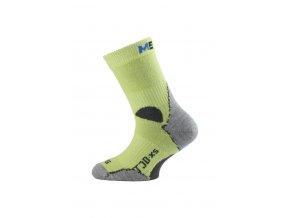 Lasting TJD 600 žlutá merino ponožka junior slabší  ponožky