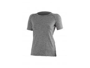 Lasting ALEA 8484 šedé vlněné merino triko