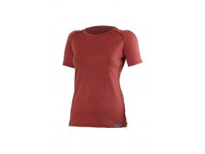 Lasting ALEA 7272 cihlové vlněné merino triko