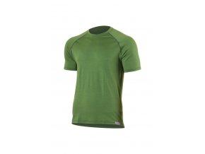 Lasting QUIDO 6060 zelené pánské vlněné merino triko