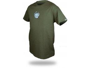 "Trimmslife triko military green ""Plžovej volejbal"""