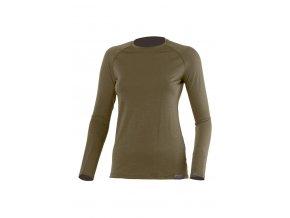 Lasting ATILA 6363 zelené vlněné merino triko
