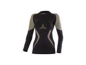 Lasting WERELA 9070 černé vlněné bezešvé triko