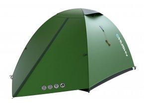 Husky Stan Extreme Lite   Bret 2 zelená  stan + čelovka LED 80lm