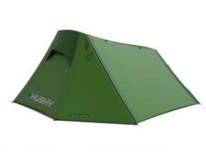 Husky Stan Extreme Lite   Brunel 2 zelená  stan + čelovka LED 80lm