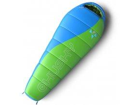 Husky Spacák Outdoor  Kids Merlot -10°C zelená  spací pytel