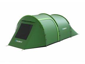 Husky Stan Outdoor Bender 4 zelená  stan + čelovka LED 80lm