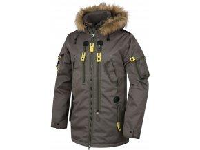 Husky Pánská plněná zimní bunda  Nerida tm. olivová