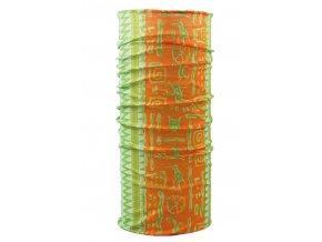 Husky multifunkční šátek   Printemp oranžovo-zelená