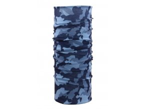 Husky multifunkční šátek   Printemp tm. modrá camouflage