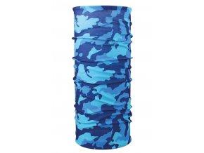 Husky multifunkční šátek   Printemp modrá camouflage
