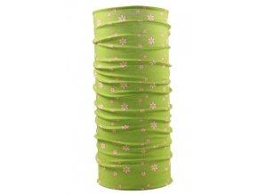 Husky multifunkční šátek   Printemp sv. zelená flowers